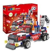 布鲁可 交通工具系列 61110 布布百变重型卡车+可可百变直升机E3