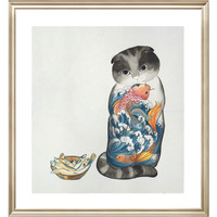 ARTMORN 墨斗鱼艺术 张渺《都是我的》36×40cm 数码微喷版画国画 新中式轻奢挂画现代简约 限量99版