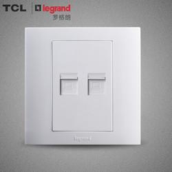TCL 罗格朗开关插座开关面板墙壁开关插座仕界系列双电脑插座