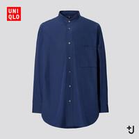 UNIQLO 优衣库 440462 +J系列 男款宽松立领衬衫