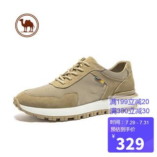 CAMEL 骆驼 牌 休闲鞋男百搭复古阿甘鞋舒适耐磨潮流运动鞋 W112247830 浅卡其 40