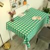 挚诚家纺 PVC防水桌布 翠绿白格 80*120cm