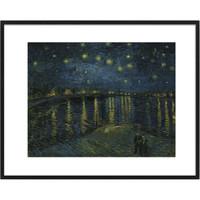 buybuyART 买买艺术 梵高《罗纳河上的星夜》50×40cm 艺术版画 客厅卧室沙发背景墙装饰画