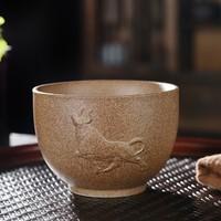 复古品茗级 牛气冲天主人杯 8.3cm x 5.9cm  陶瓷 150ml