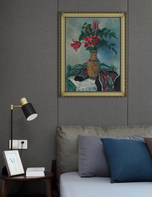 Artron 雅昌 潘玉良《珐琅彩瓶与郁金香》53×68cm 现代简约欧式静物风景油画 版画