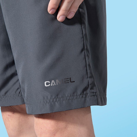 CAMEL 骆驼 男装 夏季新款短裤男运动休闲宽松轻薄透气五分裤短裤 墨灰 XAV451187 L