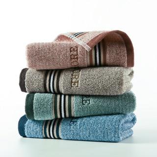 KINGSHORE 金号 4条装纯棉大毛巾柔软商务简约大气吸水全棉面巾
