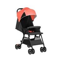 预售:QBORN 轻便折叠婴儿推车 珊瑚红
