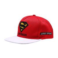 ERKE 鸿星尔克 erke)棒球帽 2019春季新款休闲时尚运动帽 大红/正白 通用维尺码