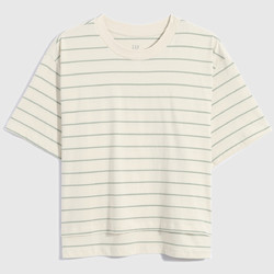 Gap 盖璞 704372 女装纯棉条纹短袖T恤