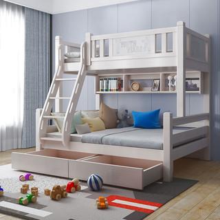 酷漫居高低床儿童床上下床实木床全实木北美樱桃木 简约百搭男女