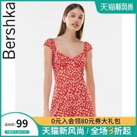 Bershka 巴适卡 女士 2021新款红色时尚花卉印花连身短裤 02950187600