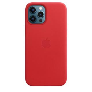 Apple 苹果 iPhone 12 Pro Max专用 MagSafe 皮革保护壳 红色