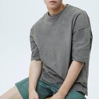 Gap 盖璞 重磅密织系列 000662321 男士短袖T恤