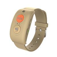 PLUS会员 : 爱牵挂 S5 智能手环 棕金 硅胶表带 棕色(GPS、心率)