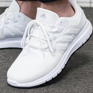 adidas 阿迪达斯 男鞋官网旗舰2021新款夏季透气网面跑步鞋白色男士运动鞋