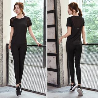 京东PLUS会员 : 度作 女短袖长裤健身运动瑜伽套装