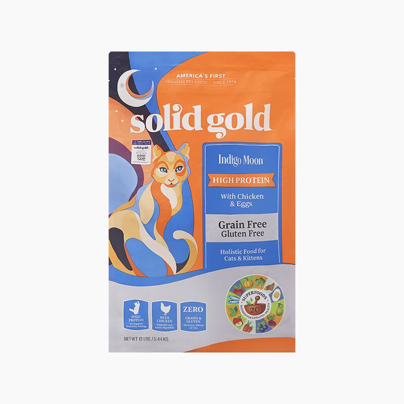 PLUS会员 : solid gold 素力高 无谷高蛋白全猫粮 金装 5.44kg