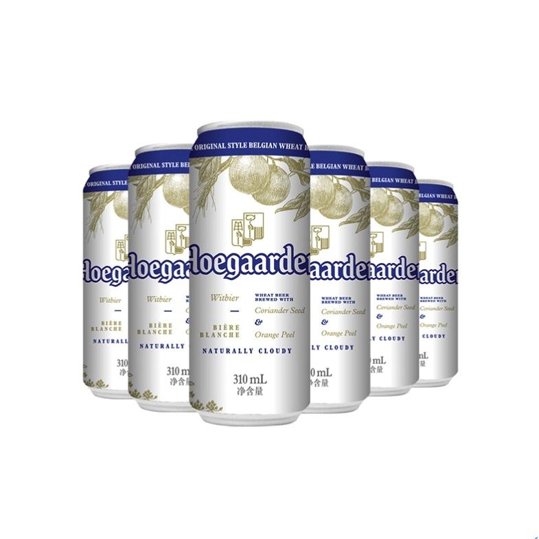 Hoegaarden 福佳 啤酒比利时风味小麦白啤酒310ml*6听罐装;