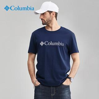 Columbia 哥伦比亚 短袖t恤男21夏季户外运动吸湿透气排汗圆领快干T恤休闲跑步半袖