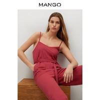 MANGO 芒果 女装连体裤2021春夏新款腰带细节细肩带设计松紧腰身连身裤