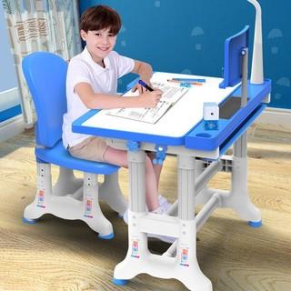 可升降儿童学习桌椅套装 00豪华粉蓝 阅读架