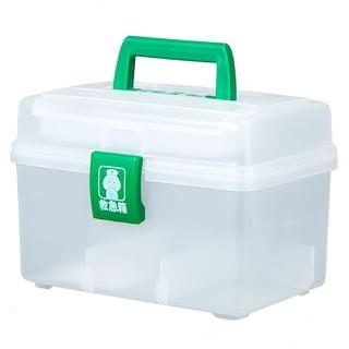 IRIS 爱丽思 家用医药箱分类药品收纳盒急救箱家庭装药箱便携爱丽丝