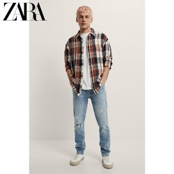 ZARA 04288029614 男装格子长袖衬衫