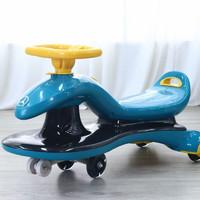 么么娃 儿童扭扭车1-3岁防侧翻静音闪光轮加固四层车体