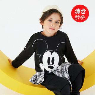 Disney baby 纯棉男童t恤长袖婴儿衣服儿童t恤宝宝上衣打底