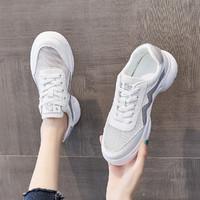 Miiow 猫人 小白鞋女夏网面鞋女网鞋休闲运动鞋板鞋21年新女鞋