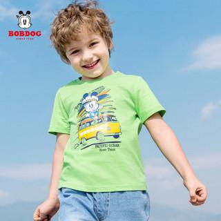 巴布豆童装男童短袖T恤纯棉中小童夏季款卡通可爱2020年夏季新款