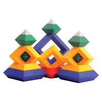 纽彼 大号鲁班金字塔儿童智力积木