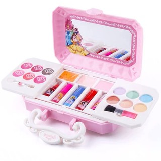 百亿补贴 : 迪士尼公主儿童化妆品套装无毒小女孩宝宝表演彩妆盒生日礼物玩具