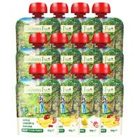GRANDPA'S 爷爷的农场宝宝果泥婴儿辅食儿童水果泥吸吸袋12袋混合装90g