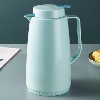 MAXCOOK 美厨 maxcook)保温壶 玻璃内胆真空热水壶保温瓶暖壶开水瓶 大容量防滑咖啡壶1.3L 清新蓝MCH7553