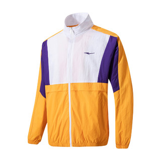 ERKE 鸿星尔克 男款夹克防风简约舒适撞色男士运动休闲外套21年春新品户外风衣