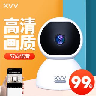 MIJIA 米家 xiaovv智能摄像头无线监控室内家用云台wifi高清手机远程室内360度无死角高清夜视宠物小型心享版1080P摄像机