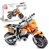SEMBO BLOCK 森宝积木 机械密码系列 701106 小摩托