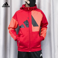 adidas 阿迪达斯 官网正品外套男春季新款运动休闲连帽夹克上衣 FM9418
