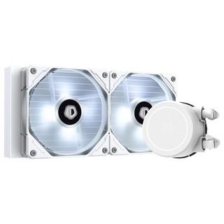 ID-COOLING 纯白240冷排一体式水冷散热器 白色LED多平台扣具