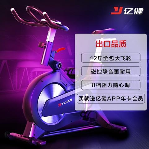 YIJIAN 亿健 动感单车家用磁控静音健身车自行车健身器材深空灰