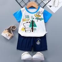 Zhuan'Yi 专一 儿童纯棉短袖短裤套装