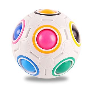 菲利捷 儿童脑力按压式彩虹球魔方玩具