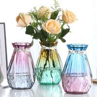 质优家 玻璃花瓶 2个