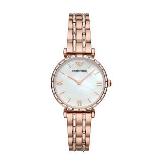 GIORGIO ARMANI 乔治·阿玛尼 玫瑰金色钢带女士石英表 时尚休闲百搭腕表AR11294 满天星手表