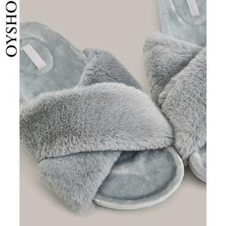 OYSHO 春夏折扣 Oysho 舒适时尚平底拖居家拖鞋女家用鞋子 11085780004