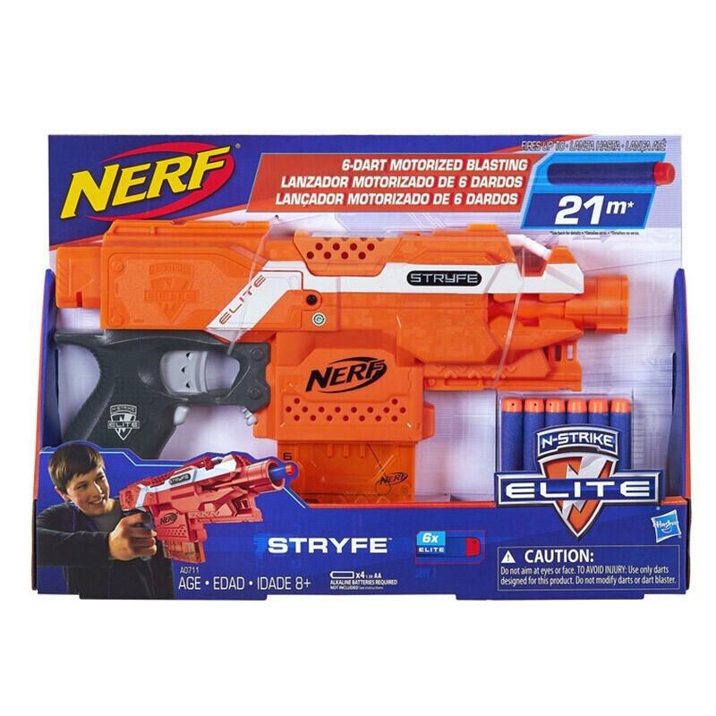 Hasbro 孩之宝 NERF热火 儿童玩具枪软弹枪男孩中秋礼物 电动精英系列冲锋发射器A0711