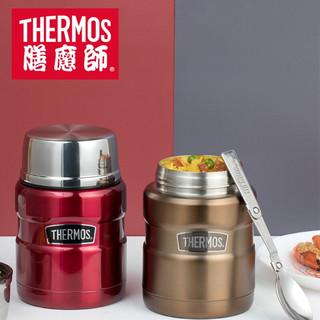THERMOS 膳魔师 不锈钢真空焖烧杯便携焖烧罐焖粥保温饭盒SK-3000 大红色