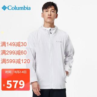 Columbia 哥伦比亚 皮肤衣 男士春夏户外耐磨舒适透气可收纳风衣外套 WE1303 100(男) XL